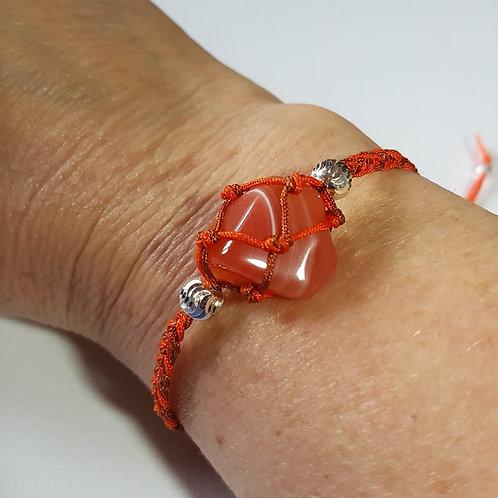 Carnelian Macrame Bracelet