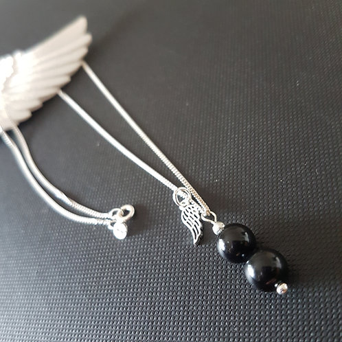 Black Tourmaline Sterling Silver Necklace
