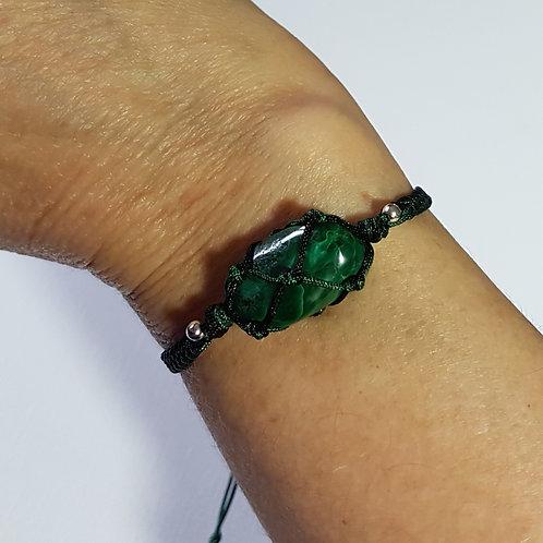 Malachite Macrame Bracelet