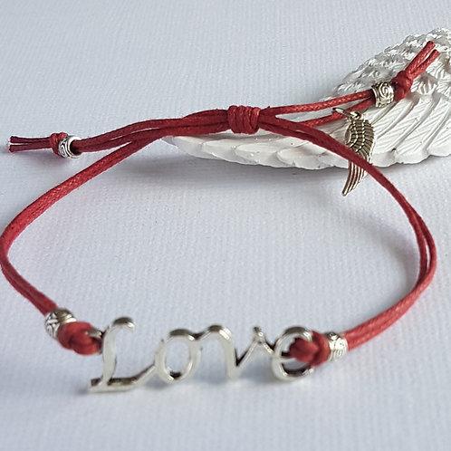 Handmade Red Angelic Love Bracelet