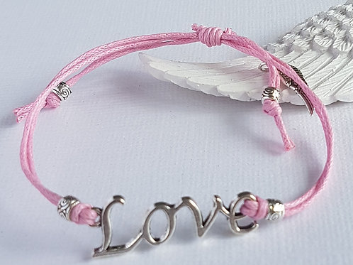 Handmade Pink Angelic Love Bracelet