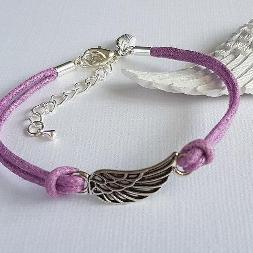 Handmade Purple Angel Wing Bracelet