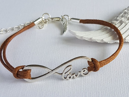 Handmade Brown Angelic Love Bracelet