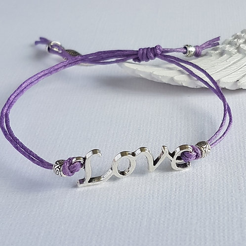 Handmade Purple Angelic Love Bracelet