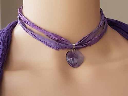 Purple Amethyst Choker