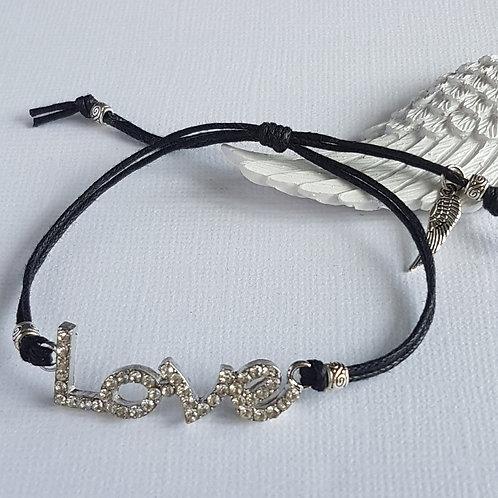 Handmade Black Angelic Love Bracelet