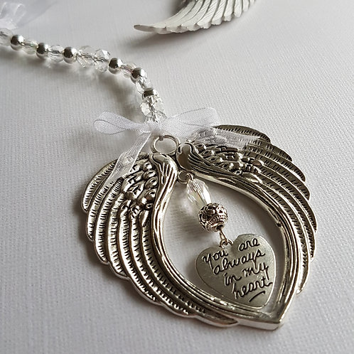 Angel Wing Hanging Decoration with Heart Charm