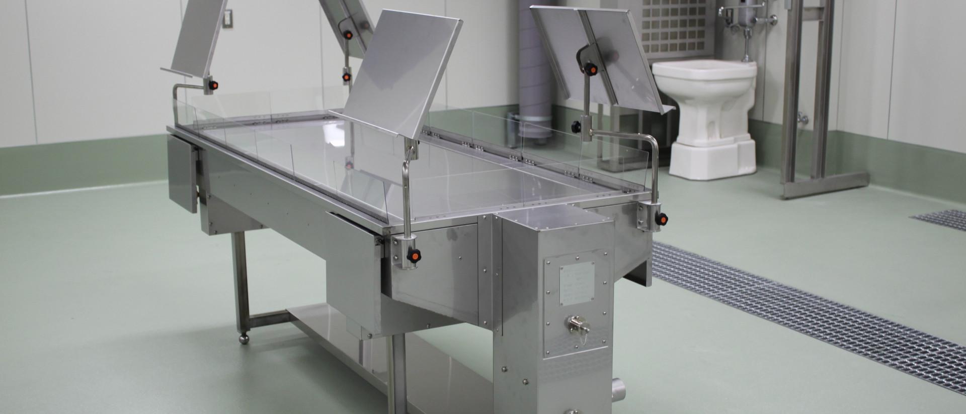 プル式解剖実習台 下部排気