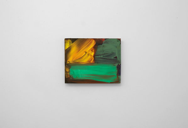 Matthew Macaulay  Bright Smudge 2018  28cm x 22.5cm  Oil on board