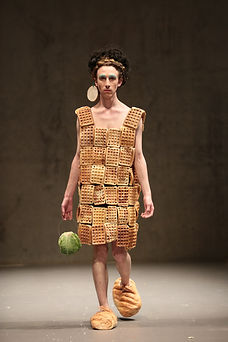 Bruce Asbestos - Waffle Dress and Cabbage Handbag