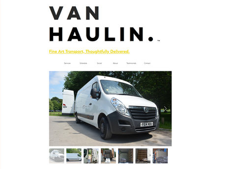 Van Haulin' Website + Logo