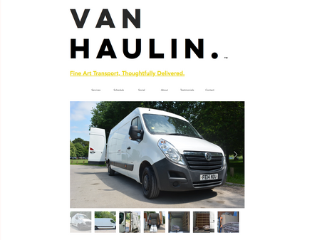 Van Haulin' Website + Logo