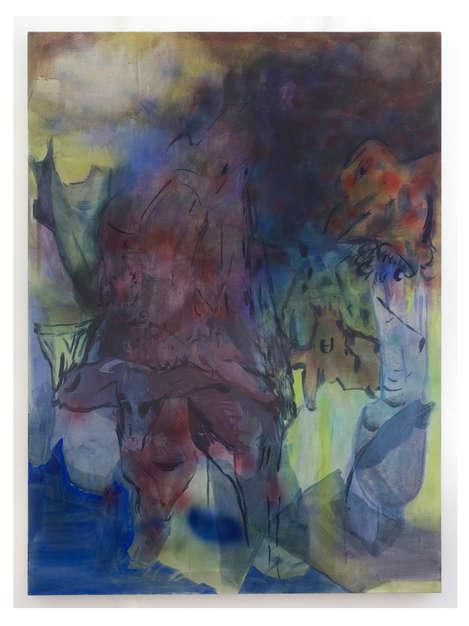 Hermit's Stroll 2018 160x120cm egg tempera & acrylic ink on canvas