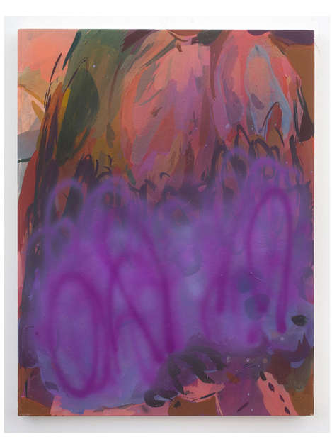 Untitled (Snow Baby) 2019 52x40cm egg tempera & acrylic ink on panel