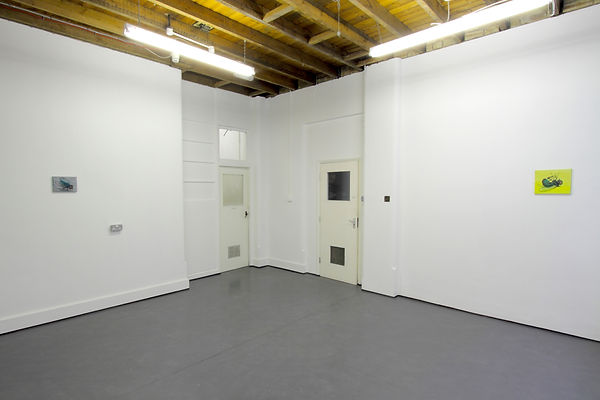 Installation view of Mimei Thompson's Paintings