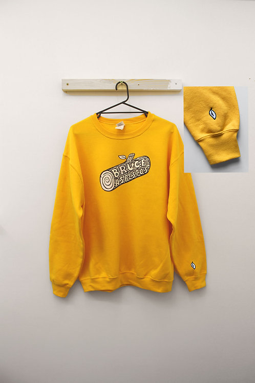Waffle Sunshine Sweatshirt with Leaf Embroidery