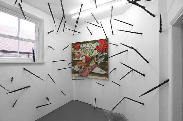 Thom Trojanowski  Bigger Bits 150x120cm Oil and spray paint on canvas