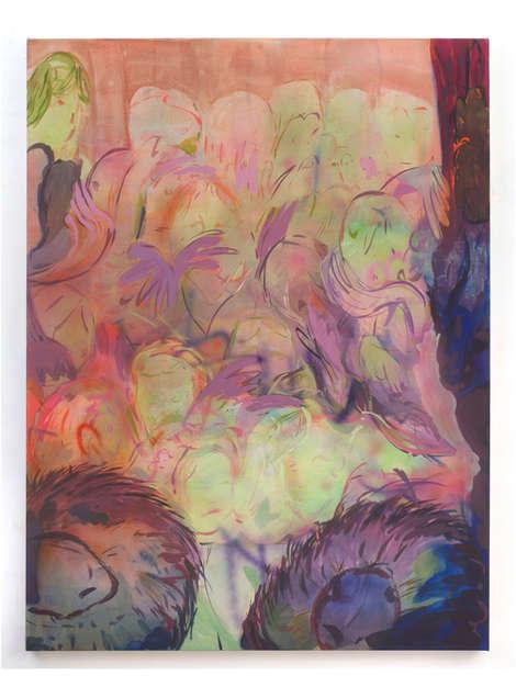 Ceremony 2020 160x120cm egg tempera & acrylic ink on canvas