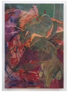 Mickey 2019 100x70cm egg tempera & acrylic ink on canvas