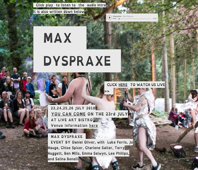 Max Dyspraxe Event Website