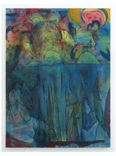 Spectators 2018 160x120cm egg tempera & acrylic ink on canvas
