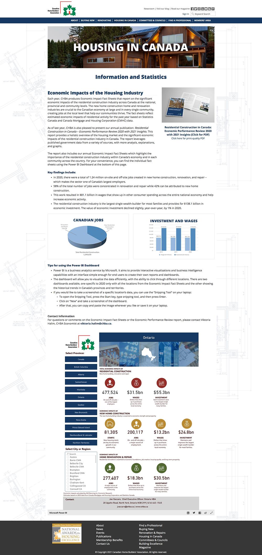 2020 Housing in Canada Snapshot