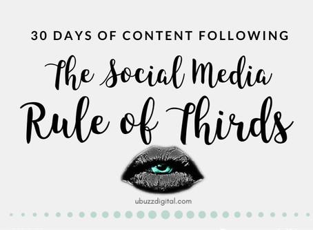 30 Days Of Social Media Content