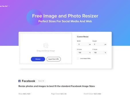 Online Tool: Social Media Photo Re-sizer