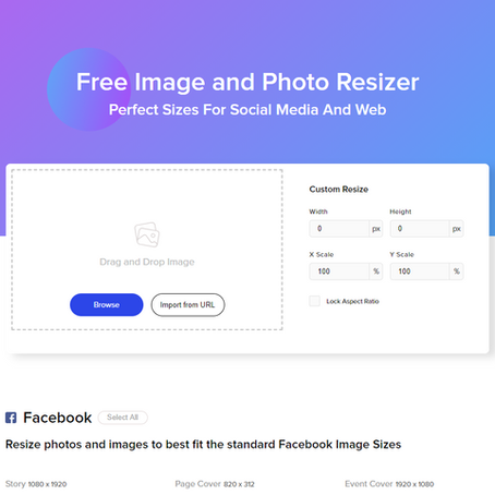 Online Tool: Social Media Photo Re-sizer