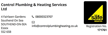 Control Plumbing Heating Radiators Boilers Southend Essex