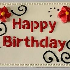 Birthday Topper (Red & Black)