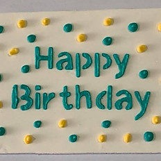 Birthday Topper-Teal & Yellow