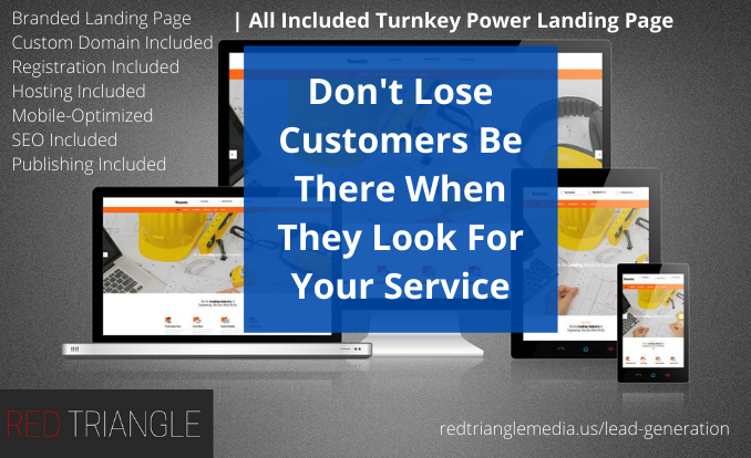 How to create a landing page - Landing page - lead generation - redtrianglemedia.us - red triangle media - power landing page