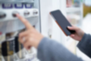Woman use of soft drink vending system p
