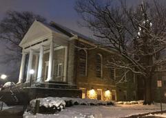 Babcock Church in Snow
