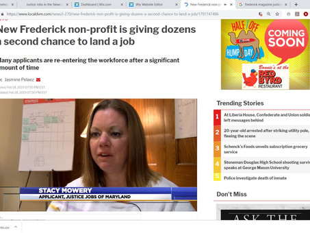 Employees Share Their JJ Stories on WDVM, Frederick News Post, and Frederick Magazine