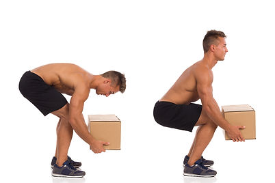 Incorrect And Correct Posture While Lift