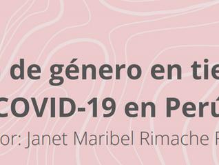 Violencia de género en tiempos de Covid-19 en Perú