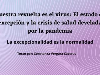 Nuestra revuelta es el virus: El estado de excepción y la crisis de salud develada por la pandemia*