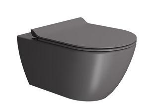 Cuvette wc noir couvercle wc siège wc