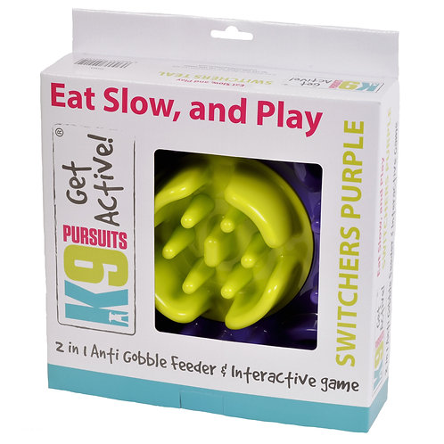 K9 Slow Feeder and Interactive Game Switchers Purple