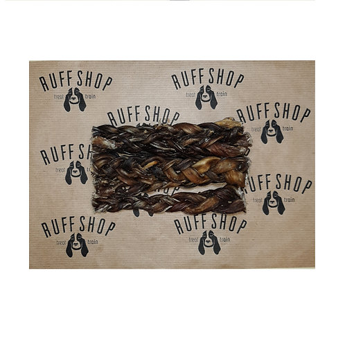 Braided Buffalo Pizzle 6''