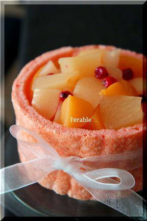 桃のシャルロット