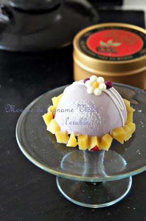 紫芋のムース