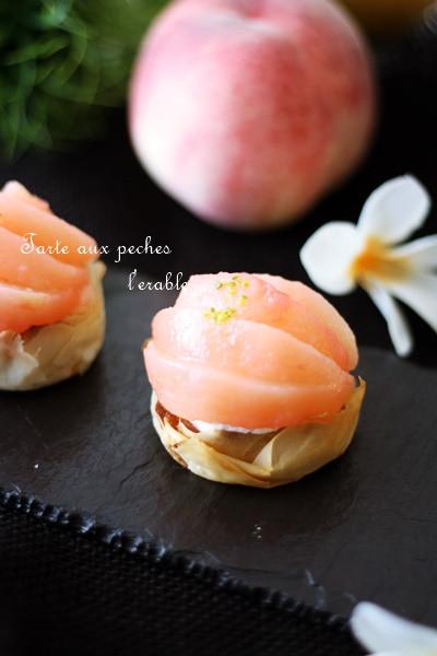 桃のパリパリタルト