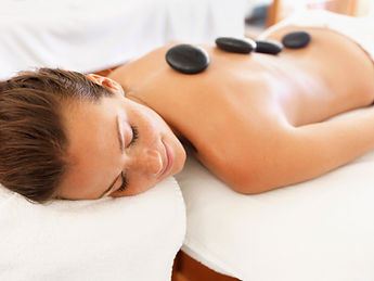 Hot Stone Fusion Massage with Ht Stone and aromatheraphy oils.