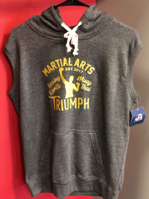Triumph Gold Sleeveless Hoodie