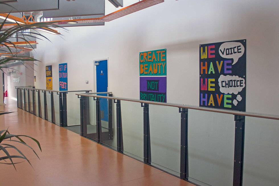 Manorfield Artjohn Year 6 Protest art paintings school environment
