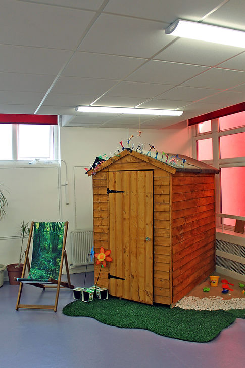 Creative Literacy reading shed