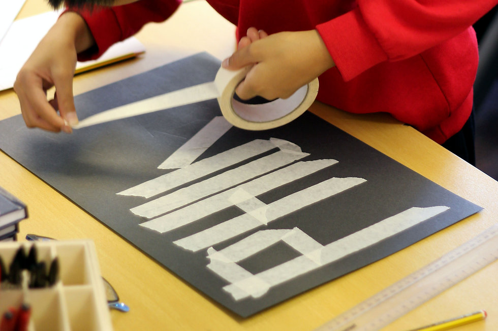 Pupil making typography Artjohn